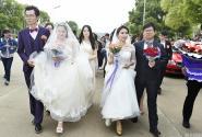 一高校大四学生与老师组队举办校园婚礼