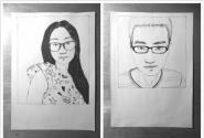 迟来的毕业纪念 安徽建筑大学毕业生手绘同学画像